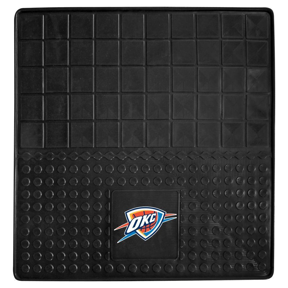 FANMATS Oklahoma City Thunder Heavy Duty Vinyl 31 in. x 31 in. Cargo Mat