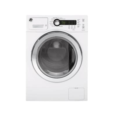 GE 4 5 cu  ft  High-Efficiency White Front Load Washing