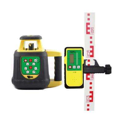 1650 ft. Green Beam Self leveling Rotary Laser Level with Receiver and Remote (5-Piece)