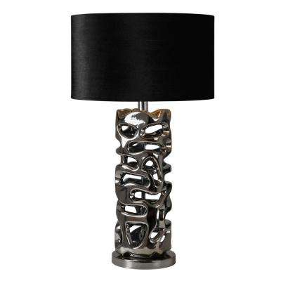 Luna 28 in. Chrome Table Lamp