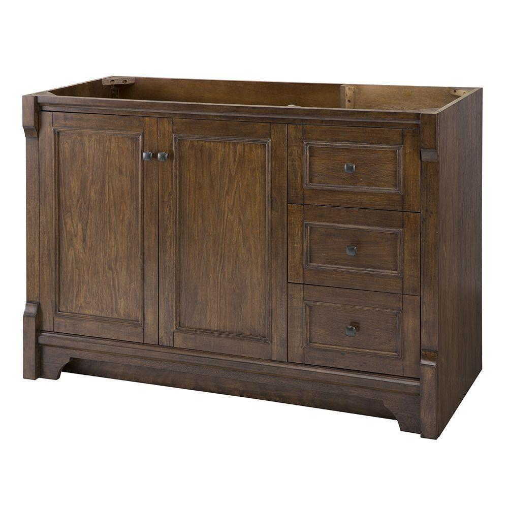 Home Decorators Collection Creedmoor 48 In W Bath Vanity Cabinet Only In Walnut With Right Hand