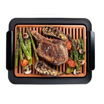 224 sq. in. Black Copper Non-Stick Ti-Ceramic Electric Smoke-less Indoor Grill