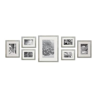 Pinnacle Gallery 4 In X 6 In 5 In X 7 In 8 In X 10 In Graywash Picture Frame Set Of 7 17fw2315 The Home Depot