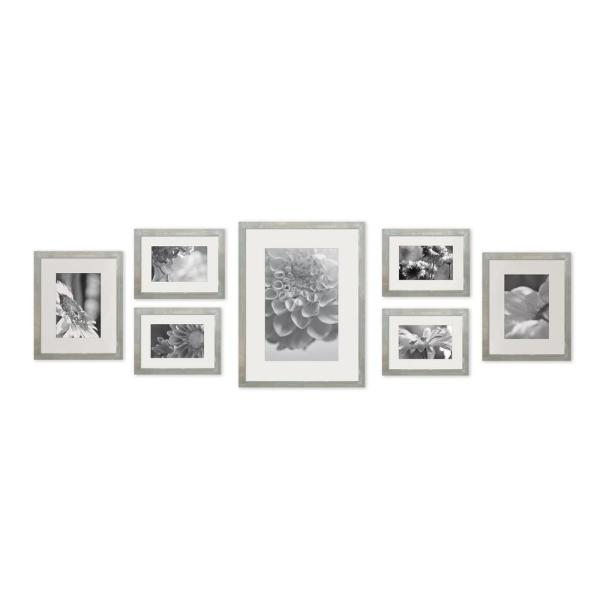 Gallery 4 in. x 6 in., 5 in. x 7 in., 8 in. x 10 in. Graywash Picture Frame (Set of 7)