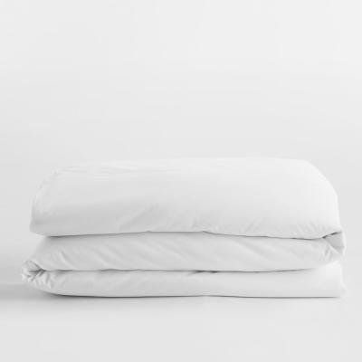 Legends Luxury Solid White Cotton Sateen Oversized King Duvet Cover