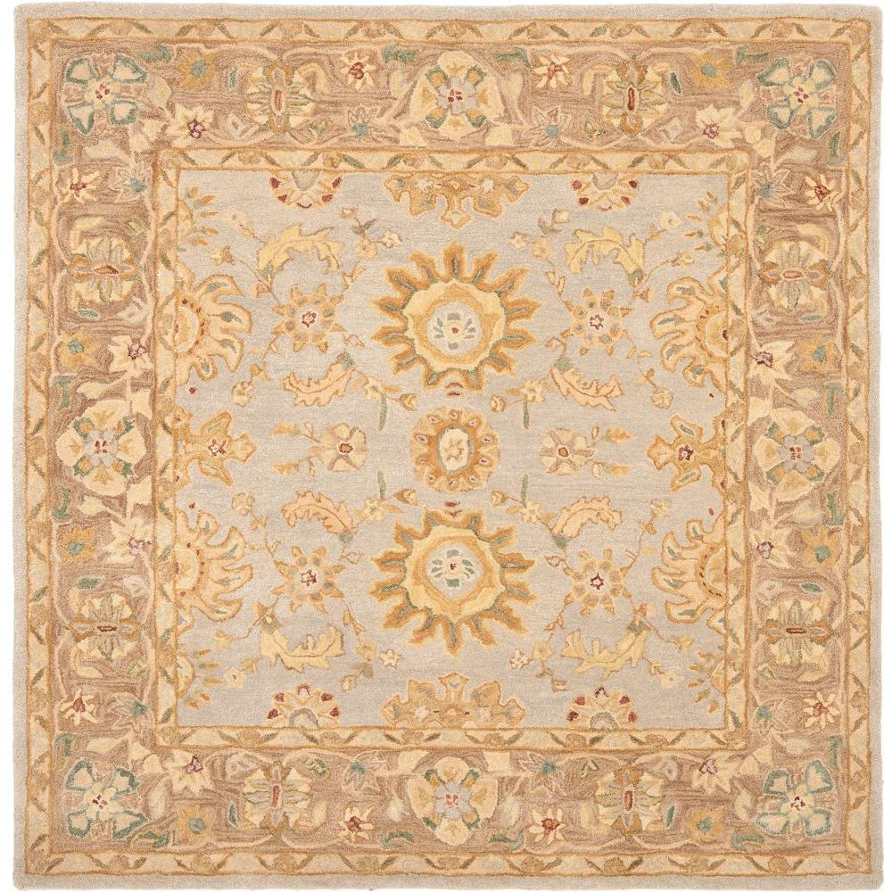 Safavieh Anatolia Teal/Brown 6 Ft. X 6 Ft. Square Area Rug