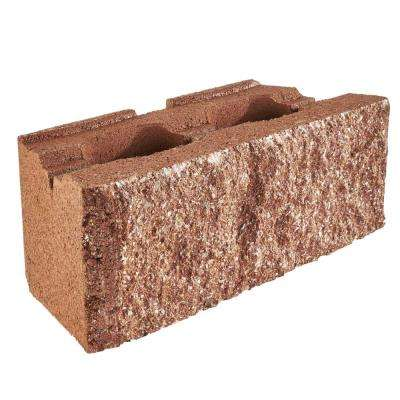 RockWall Large 6 in. x 17.5 in. x 7 in. Red Concrete Retaining Wall Block (48-Piece/34.9 sq. ft./Pallet)
