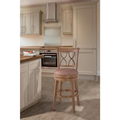 Reydon 26 in. Swivel Counter Stool in Weathered Taupe
