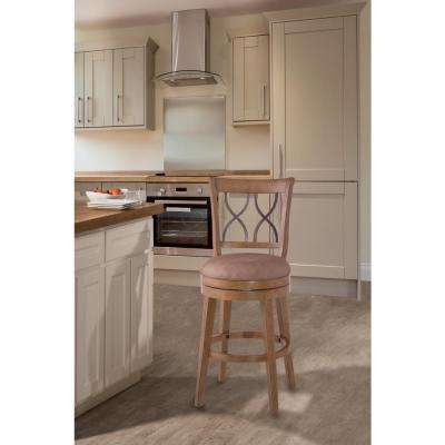 Reydon 26 in. Weathered Taupe Swivel Cushioned Bar Stool