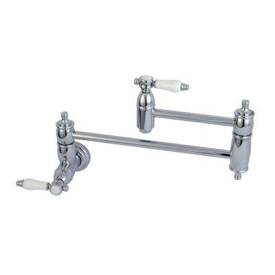 Bel-Air Wall-Mounted Potfiller Lever Handle in Polished Chrome