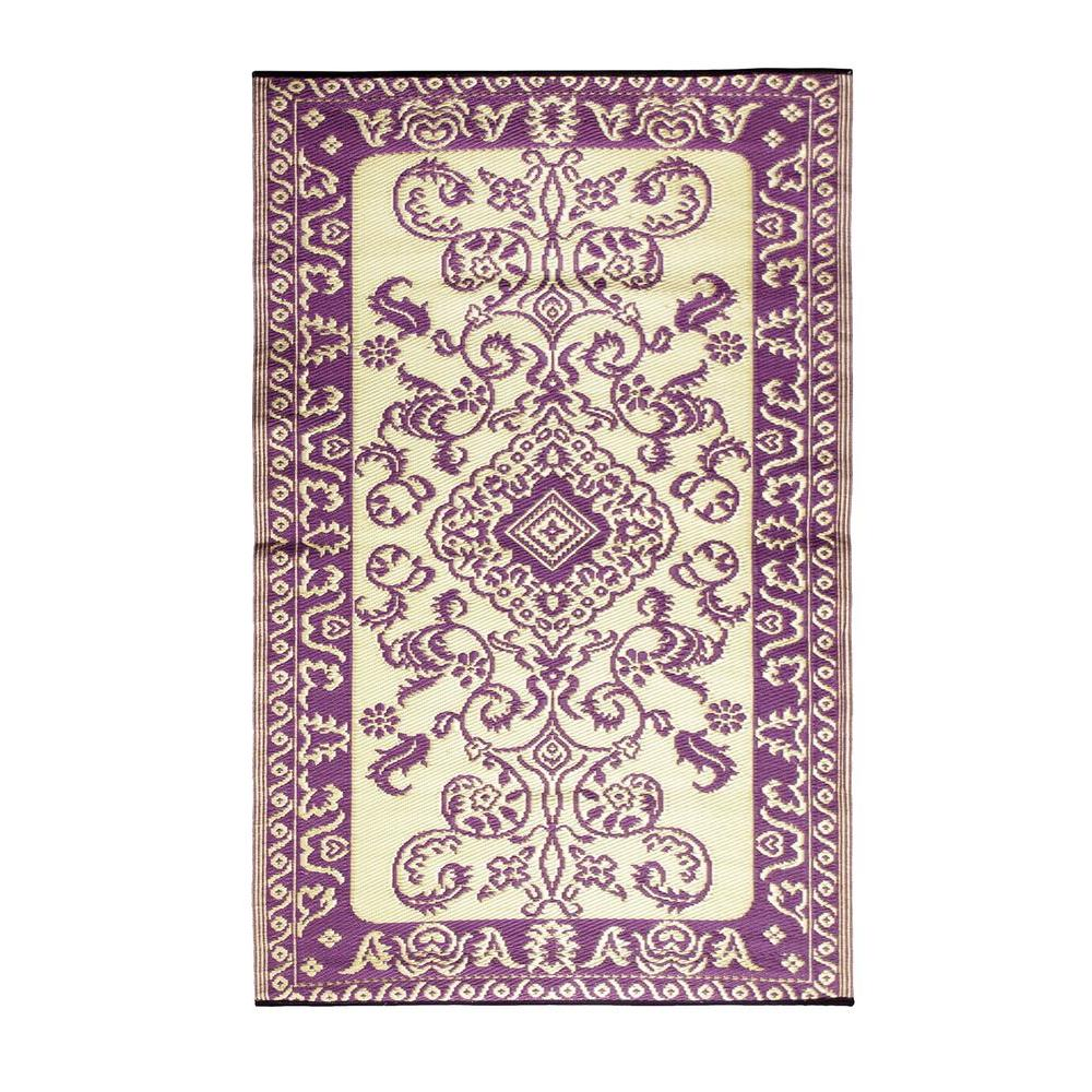 Achla Designs Tracery Violet 4 ft. x 6 ft. Indoor/Outdoor Area Rug, Purple Achla Designs Tracery Violet 4 ft. x 6 ft. Indoor/Outdoor Area Rug, Purple