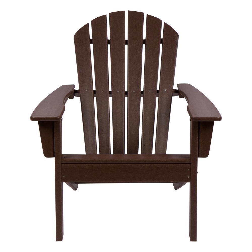 Mocha Seaside Plastic Adirondack Chair