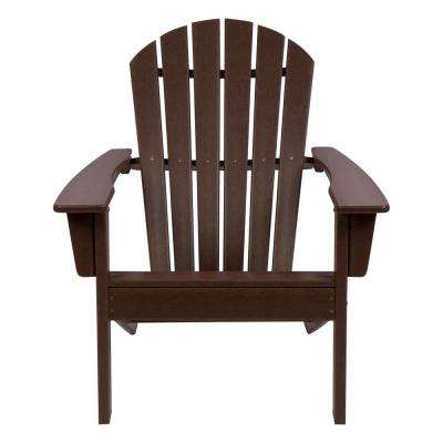Mocha Seaside Plastic Adirondack Chair