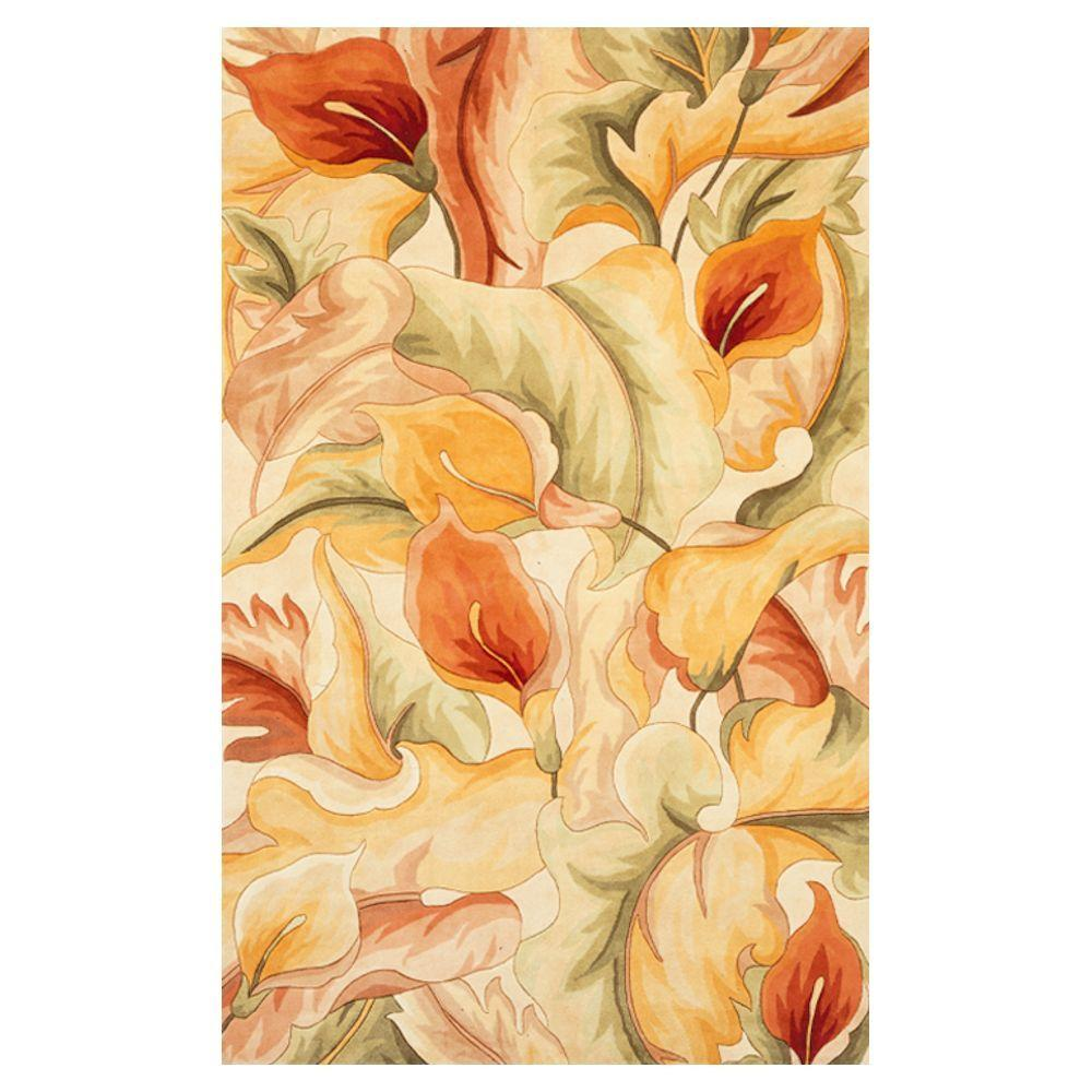 Calla Lilies Ivory 2 ft. 6 in. x 4 ft. 2
