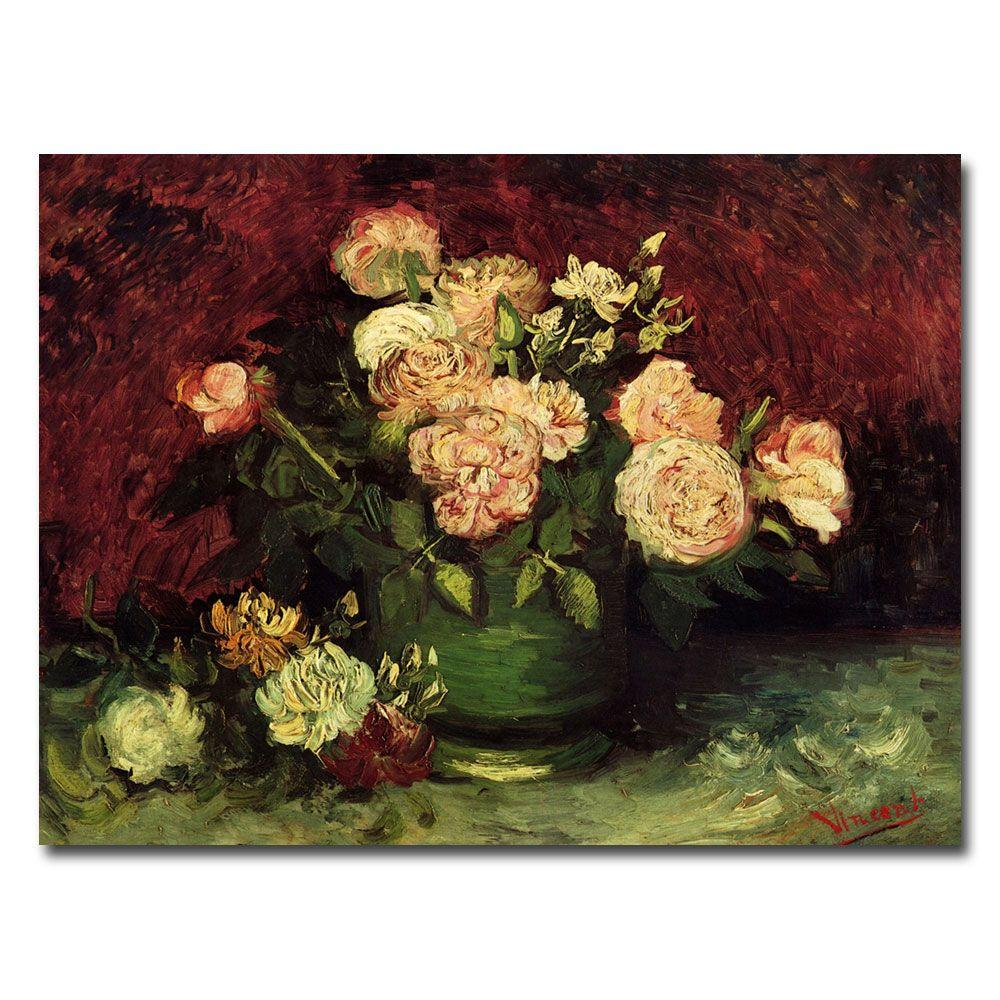 35 in. x 47 in. Peonies and Roses Canvas Art