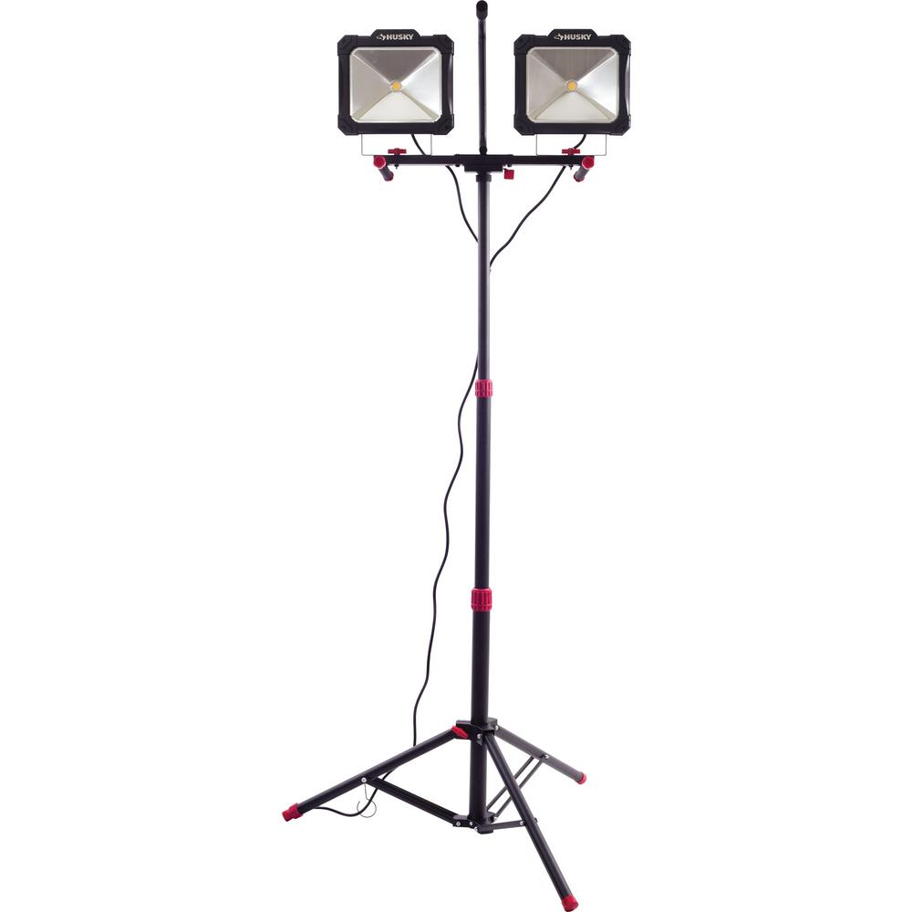Husky 10,000-Lumen Twin-Head LED Work Light