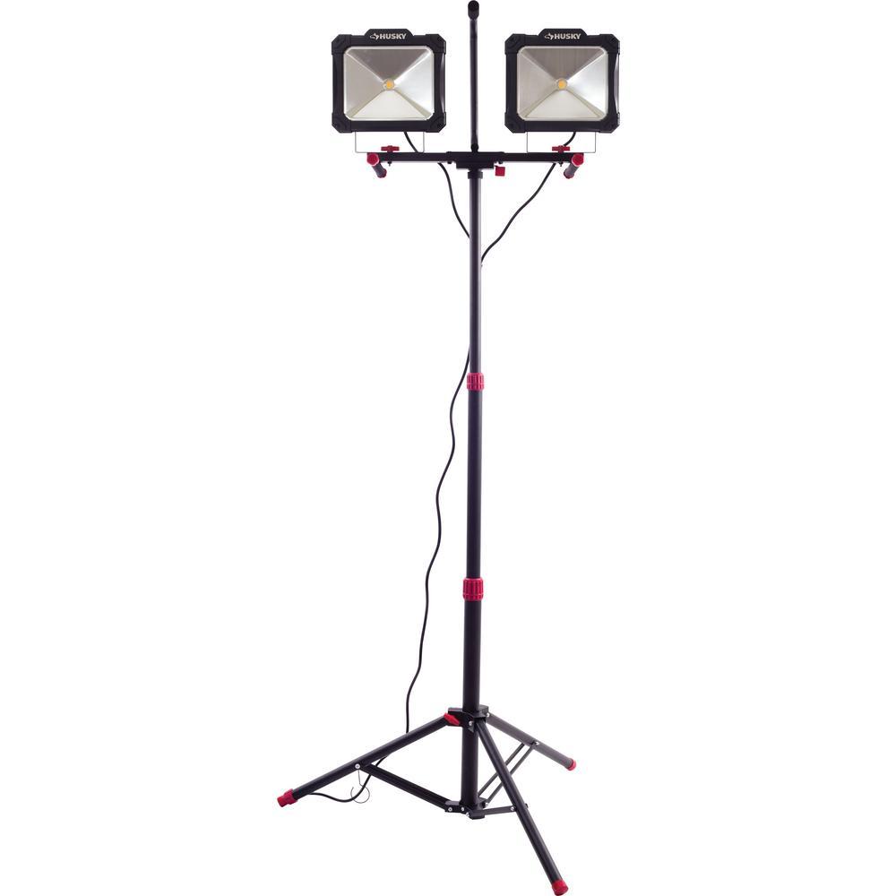 10,000-Lumen Twin-Head LED Work Light