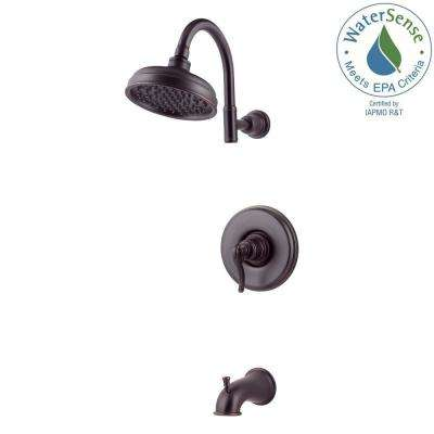 Ashfield Single-Handle 1-Spray Tub and Shower Faucet in Tuscan Bronze (Valve Included)