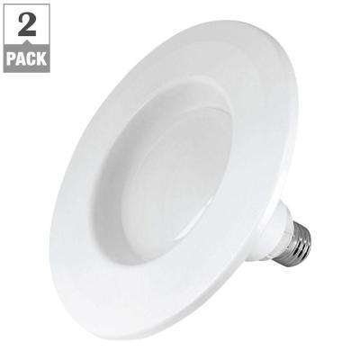 65W Equivalent Soft White BR30 Dimmable InstaTRIM 5-6 in. LED Down Light Bulb (2-Pack)