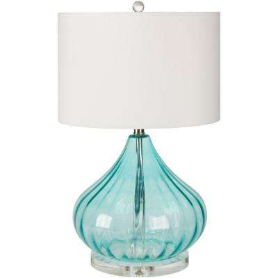Ridgway 24.5 in. Transparent Blue Indoor Table Lamp