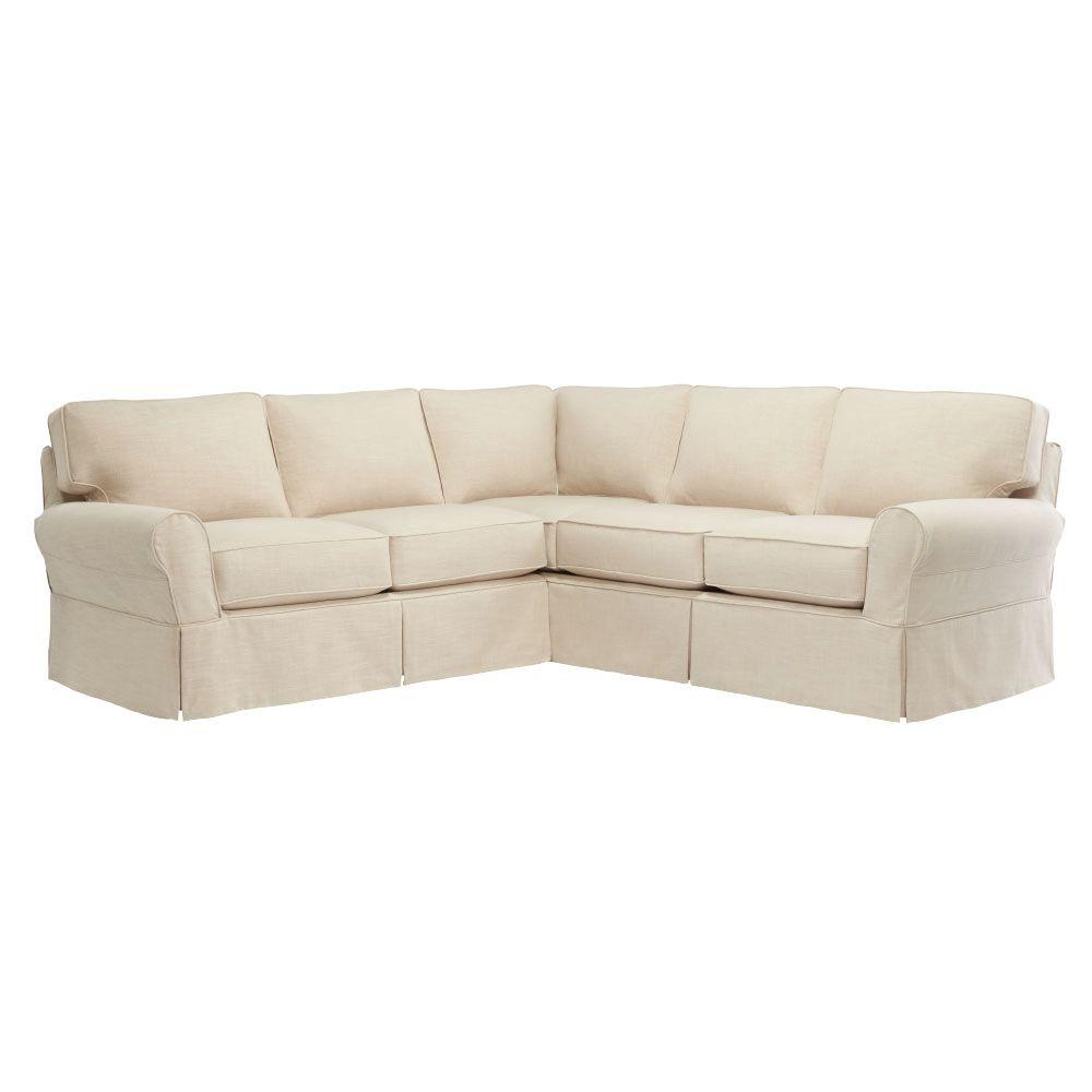 Home Decorators Linen Pearl Sectional