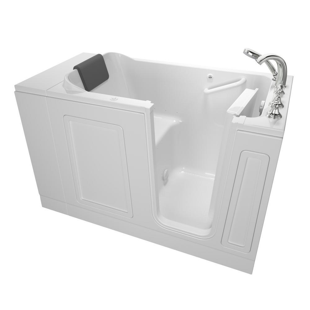 American Standard Acrylic Luxury 51 in. Right Hand Walk-In Air Bathtub in White