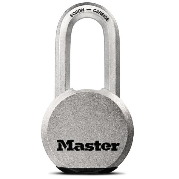 M930XDLH Magnum 2-1/2 in. Wide Solid Steel Keyed Padlock with 2 in. Extra Long Shackle