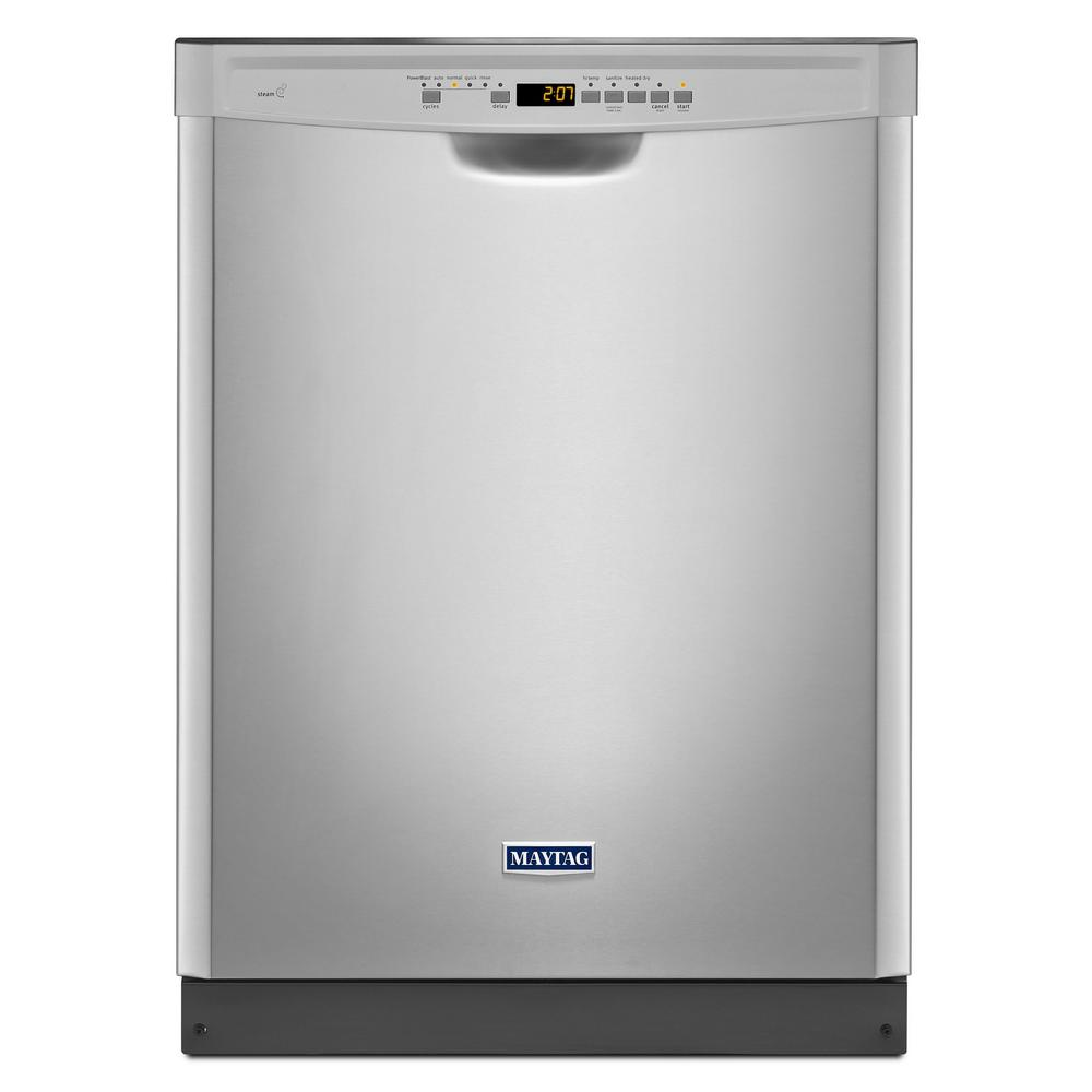 Maytag Front Control Built-in Tall Tub Dishwasher in Fingerprint Resistant Stainless Steel with Stainless Steel Tub, 50 dBA