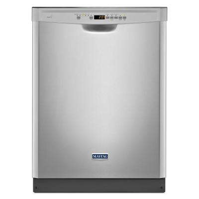 24 in. Front Control Built-in Dishwasher in Fingerprint Resistant Stainless Steel with Stainless Steel Tub