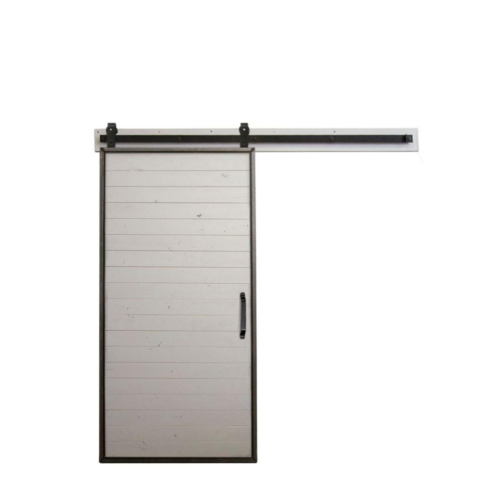 This Review Is From:36 In. X 84 In. Mountain Modern White Wood Barn Door  With Mountain Modern Sliding Door Hardware Kit