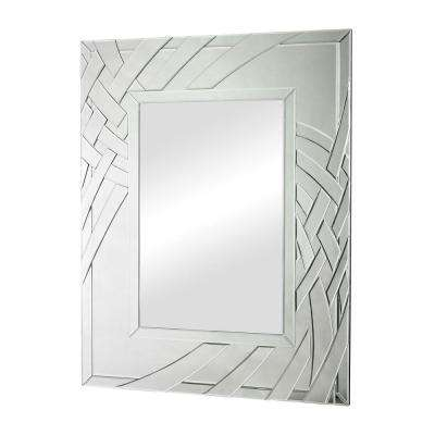 Arched Ribbons 47 in. x 37 in. Beveled Edge Framed Mirror