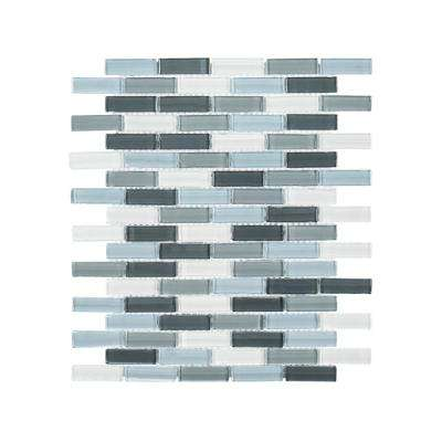 Malibu Breeze 9-3/4 in. x 11-7/8 in. x 8 mm Glass Mosaic Tile
