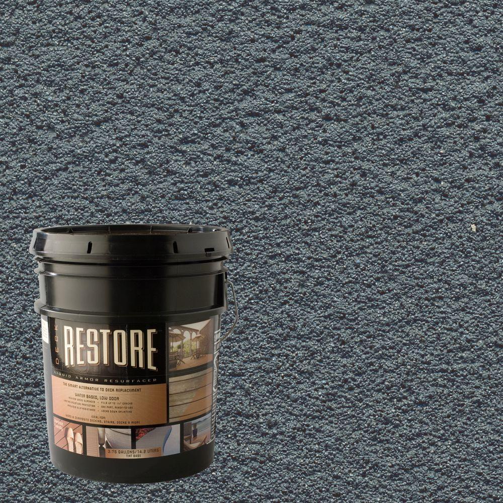 Restore Deck Liquid Armor Resurfacer 4 Gal. Water Based Slate Exterior Coating-DISCONTINUED