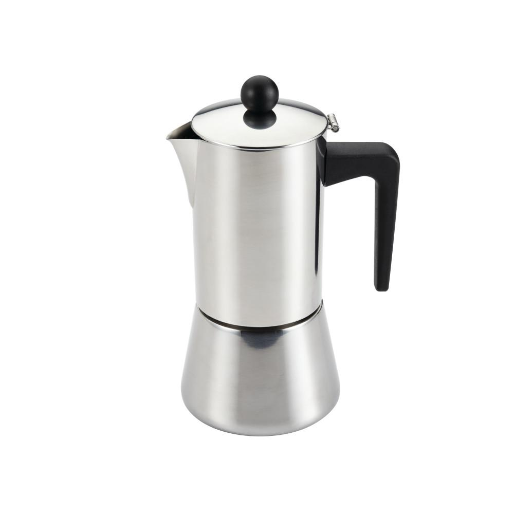 BonJour 6-Cup Stovetop Espresso Maker in Stainless Steel (Silver) BonJour Coffee & Tea Stainless Steel 6-Cup Stovetop Espresso Maker