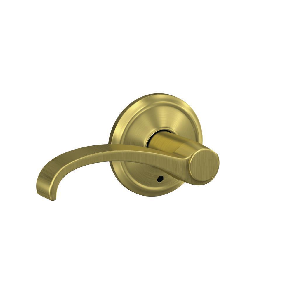 Schlage Custom Whitney Satin Brass Alden Trim Combined Interior Door