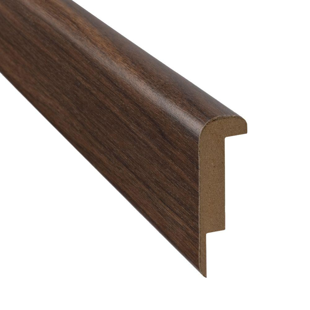 SimpleSolutions 78-3/4 in. x 2-3/8 in. x 3/4 in. Loft Oak/Loft Walnut Stair Nose Molding-DISCONTINUED