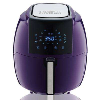 5.8 Qt. 8-in-1 Plum Electric Air Fryer