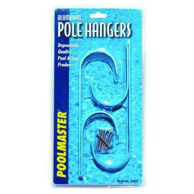 Aluminum Swimming Pool Pole Hangers (2-Pack)