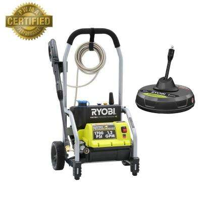 1,700-PSI 1.2-GPM Electric Pressure Washer with 12 in. Surface Cleaner