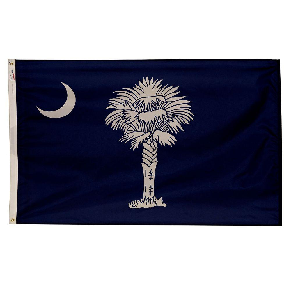 Valley Forge Flag 3 Ft X 5 Ft Nylon South Carolina State Flag Sc3