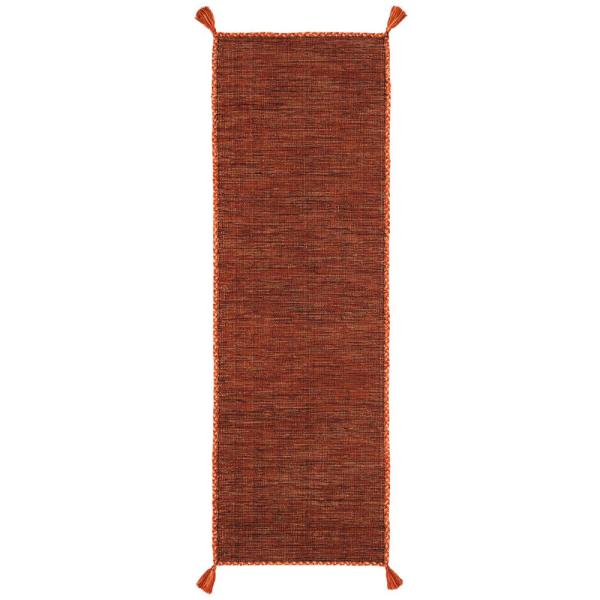 Montauk Orange/Black 2 ft. 3 in. x 7 ft. Runner Rug