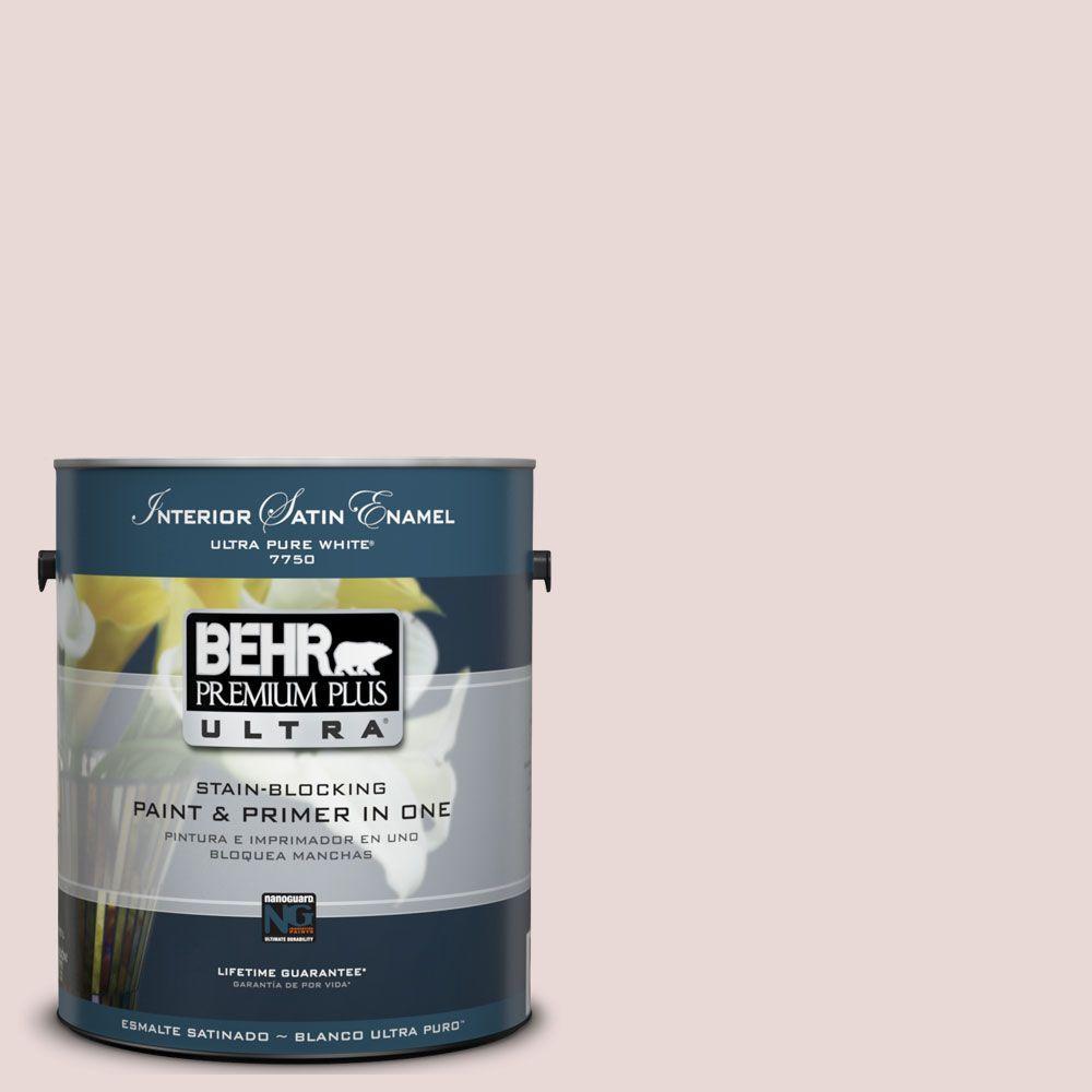BEHR Premium Plus Ultra 1-Gal. #UL110-15 Vienna Lace Interior Satin Enamel Paint-DISCONTINUED