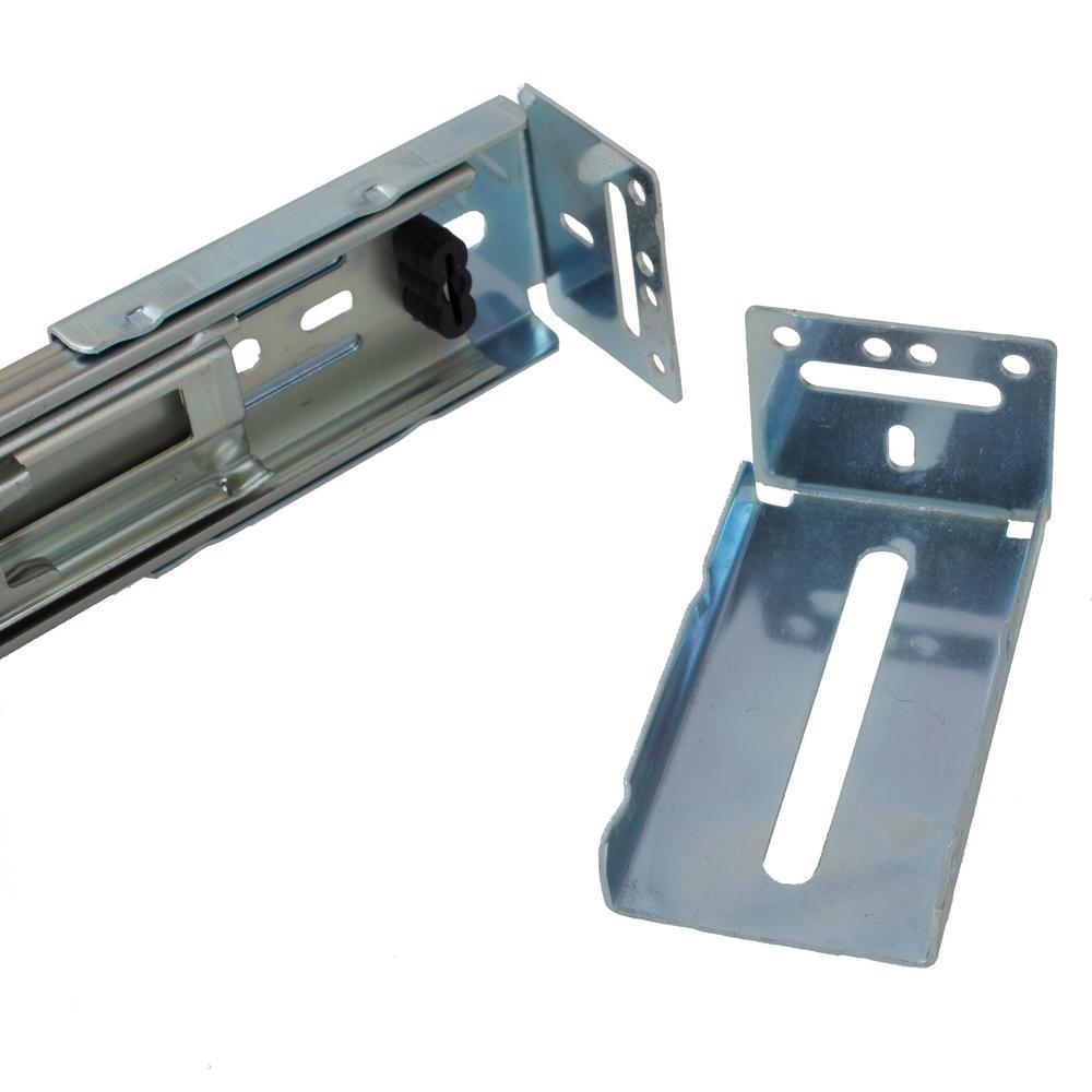 5 Pairs Hardware Rear Mounting Brackets for Drawer Slides,Cabinet Drawer Bracket for Face Frame Cabinets