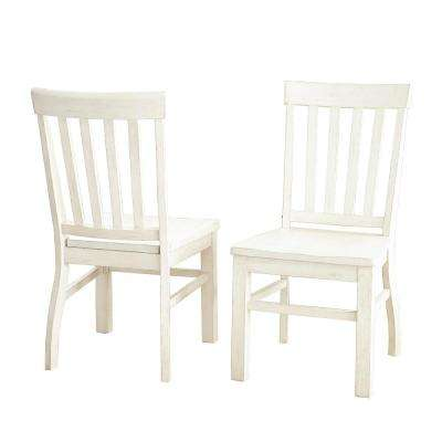 Cayla White Side Chair (Set of 2)