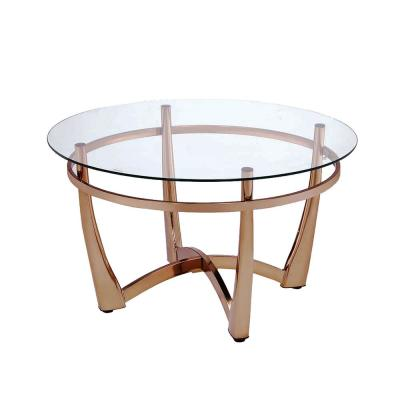 Amelia Champagne And Clear Glass Coffee Table