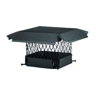 17 in. x 8 in. California Oregon Bolt-On Single Flue Chimney Cap in Black Galvanized Steel