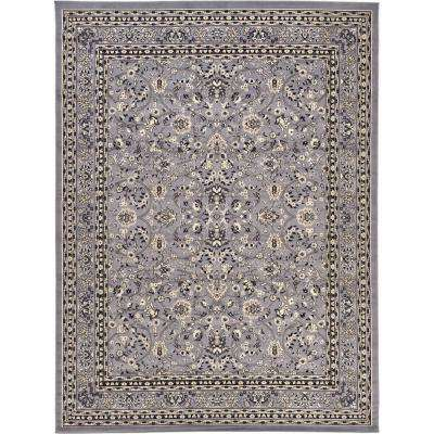 Kashan Gray 9 ft. 10 in. x 13 ft. Area Rug