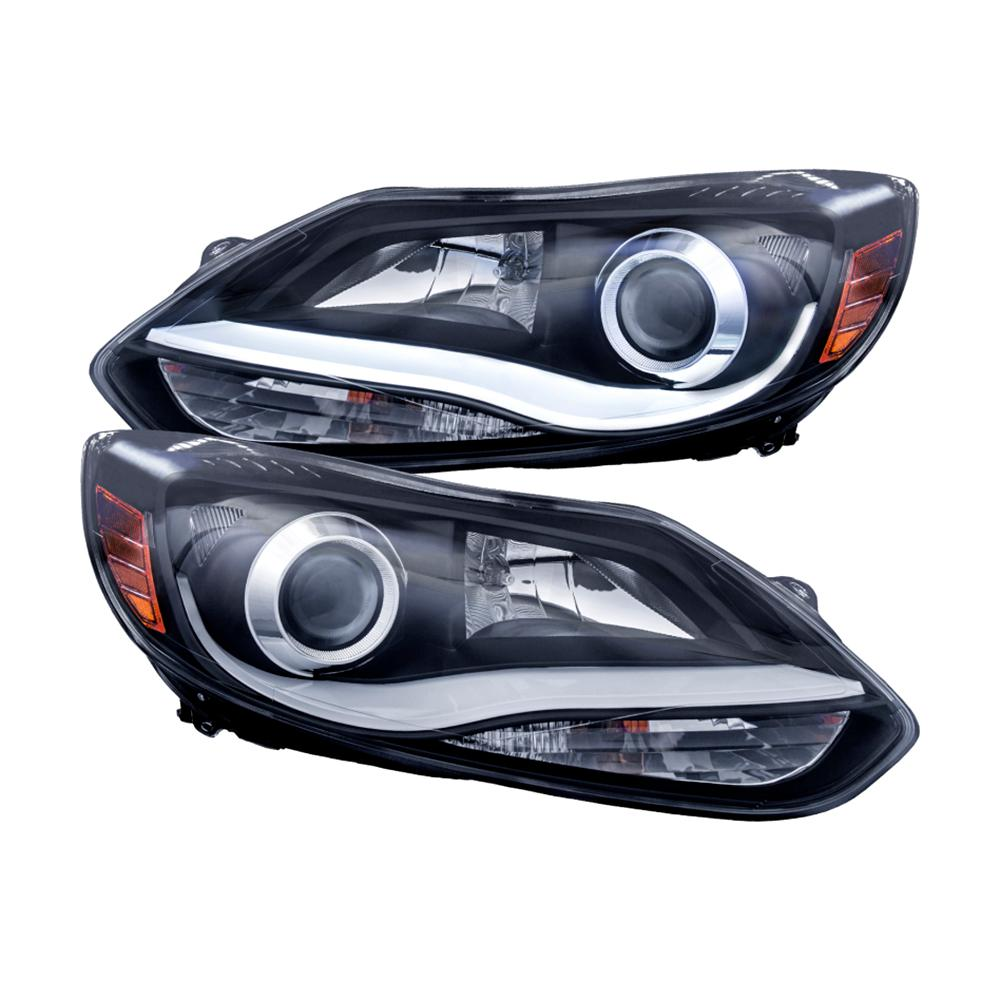 2017 Ford Focus Projector Headlights W Plank Style Design Black