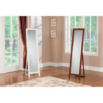 Brown Wood Frame Easel Floor Mirror