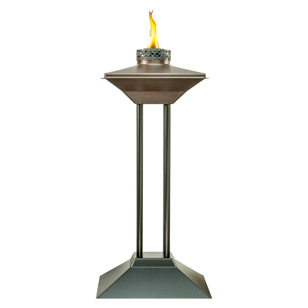 29 in. Cordoba Metal Patio Torch Bronze